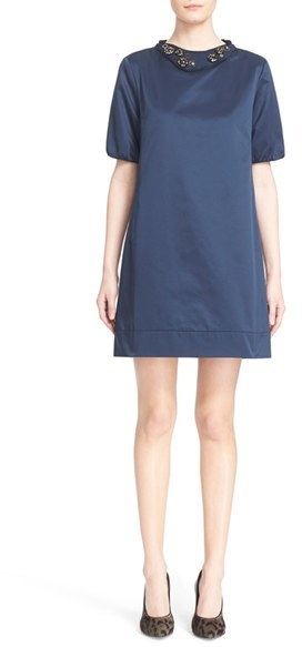 Max Mara Women's Max Mara 'Labile' Dress With Removable Embellished Collar