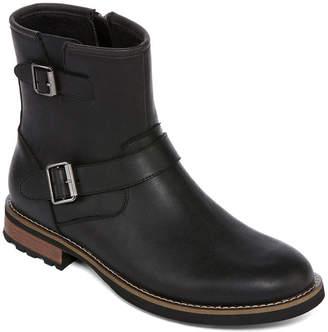 ST. JOHN'S BAY Mens Statham Motorcycle Boots Zip