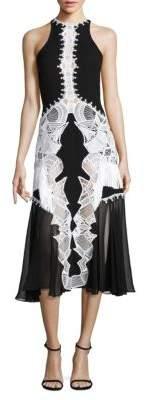 Jonathan Simkhai Lace Applique Contoured Dress