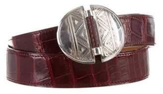 Hermes Vintage Alligator Touareg Belt