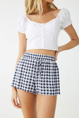 Forever 21 Gingham Drawstring Shorts