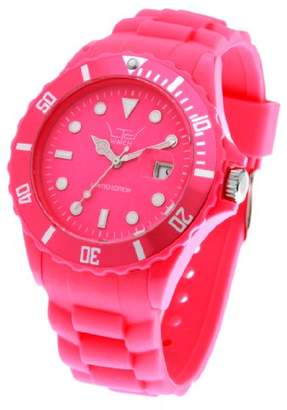 LTD Watch Unisex Limited Edition Silicon Range Watch LTD 091302 With Shocking Pink Silicon Bracelet, Dial And Rotating Bezel