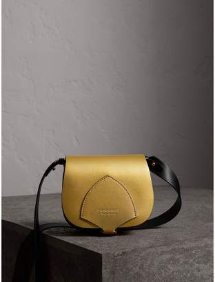 Burberry The Satchel in Metallic Leather