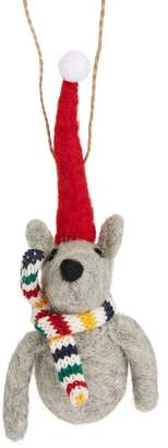 HBC Stripes Mouse With Scarf Ornament