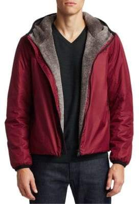 Saks Fifth Avenue COLLECTION Eco Fur-Lined Short Jacket