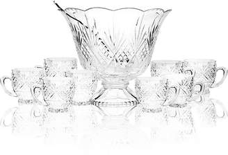 Godinger Drinkware, Dublin Punch Bowl 10 Piece Set