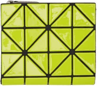 Bao Bao Issey Miyake Yellow and Black Glossy Book Wallet