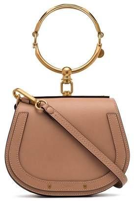 Chloé biscotti beige Nile Mini Leather Bracelet Bag
