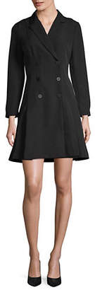 Isaac Mizrahi IMNYC Double Breasted Fit-And-Flare Dress