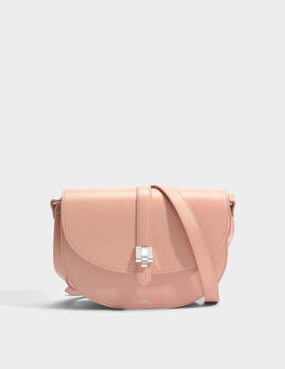 A.P.C. Isilde Bag in Pink Shiny Smooth Leather
