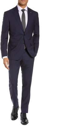 Ted Baker Roger Slim Fit Stripe Wool Suit