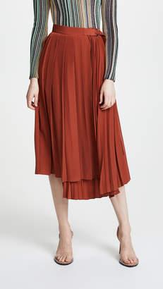 Robert Rodriguez Pleated Wrap Skirt