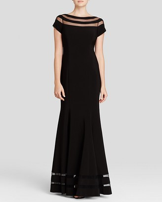 JS Collections Gown - Boat Neck Cap Sleeve $220 thestylecure.com