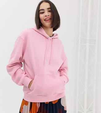 Monki hooded sweat in pink