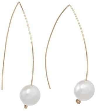 Anne Woodman Pearl Wishbone Earrings $55 thestylecure.com