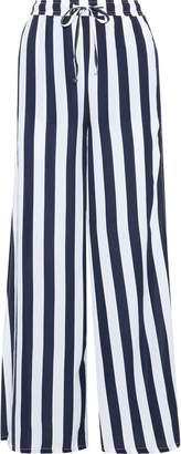 Onia Chloe Striped Poplin Wide-leg Pants