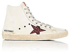 Golden Goose Women's Francy Leather & Glitter Sneakers - Cream