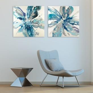 Artissimo Designs Flower Explosion Canvas Wall Art 2-piece Set