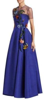 Carolina Herrera Embellished Illusion Gown