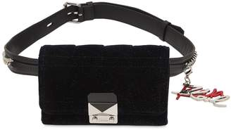Karl Lagerfeld Kaia X Glitter Velvet Belt Pack