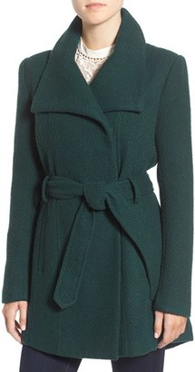 Steve Madden Belted Waffle Woven Coat $150 thestylecure.com