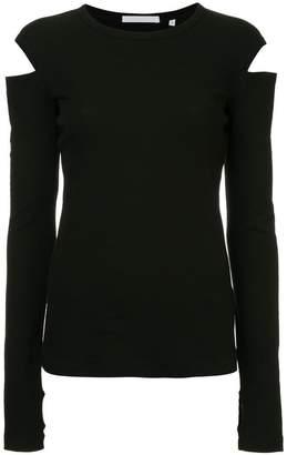 Helmut Lang slash long sleeved T-shirt