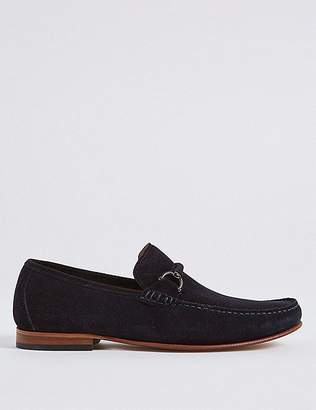 Marks and Spencer Suede Snaffle Loafers with Stain Resistant