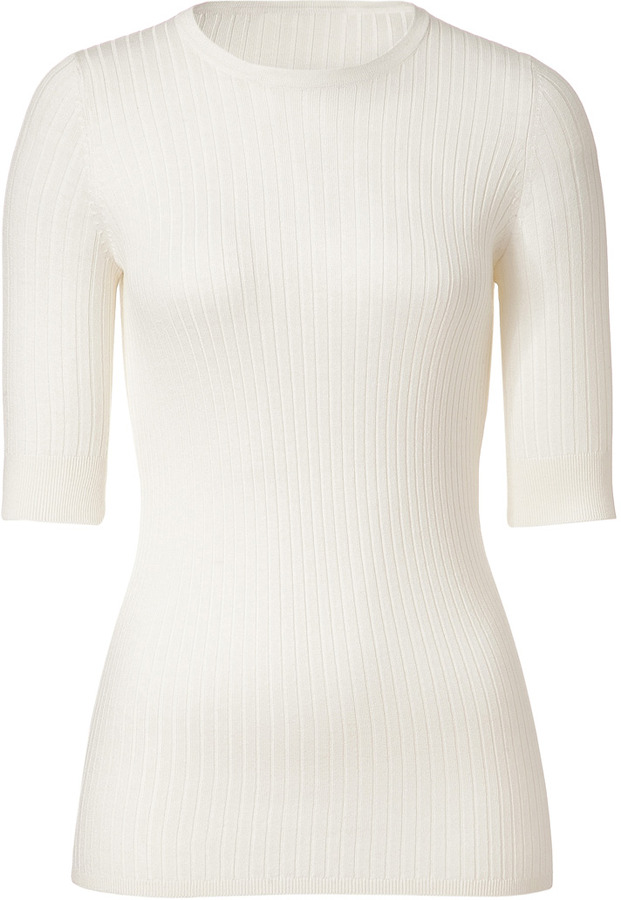 Vince Sailcloth Crew Ribbed Sweater