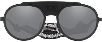 Dolce & Gabbana Eyewear round aviator sunglasses