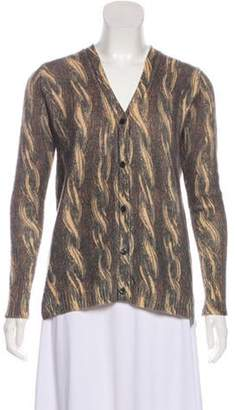 Prada Printed Lightweight Cardigan Brown Printed Lightweight Cardigan