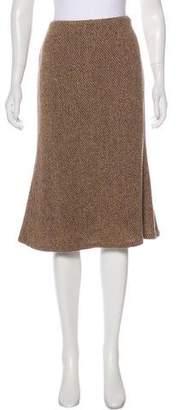 Ralph Lauren Black Label Wool-Blend Knee-Length Skirt w/ Tags