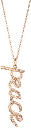 Sydney Evan 14k Rose Gold Diamond Peace Charm Necklace