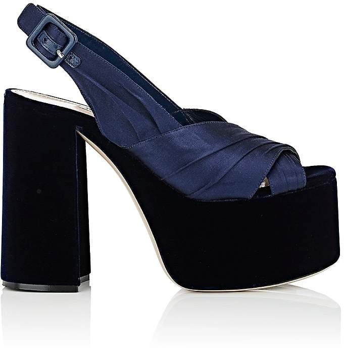 Miu Miu Women's Satin & Velvet Platform Sandals