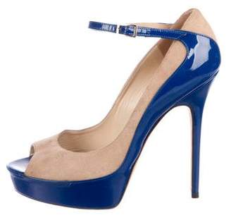 Jimmy Choo Patent Leather Ankle Strap Pumps