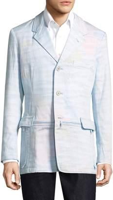 Y-3 Men's Print Long Blazer