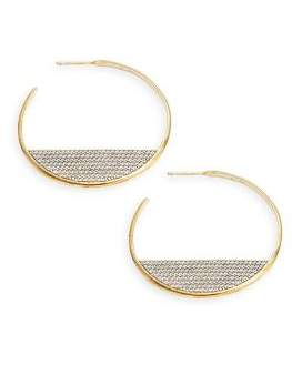 Nadri Sterling Silver & Crystal Hoop Earrings