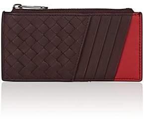 Bottega Veneta Men's Leather Top-Zip Card Case