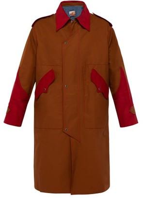 Boramy Viguier - Corduroy Panelled Twill Overcoat - Mens - Camel