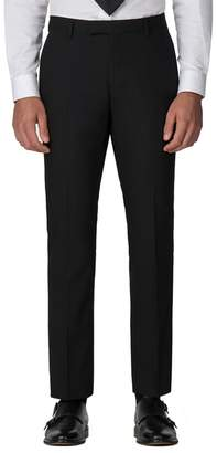 Green & Black Racing Green - Black Plain Twill Tailored Fit Suit Trouser