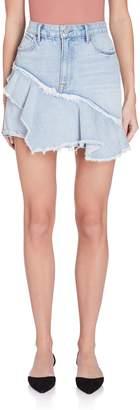 Grlfrnd Denim Giselle Ruffle Denim Skirt