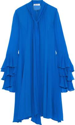 Prabal Gurung Pussy-bow Tiered Georgette Dress