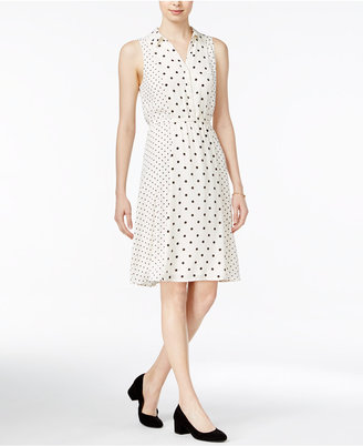 Maison Jules Polka-Dot Shirtdress, Only at Macy's $79.50 thestylecure.com