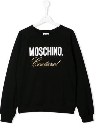 Moschino Kids TEEN Couture print sweater