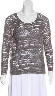 Theory Long Sleeve Open Knit Top
