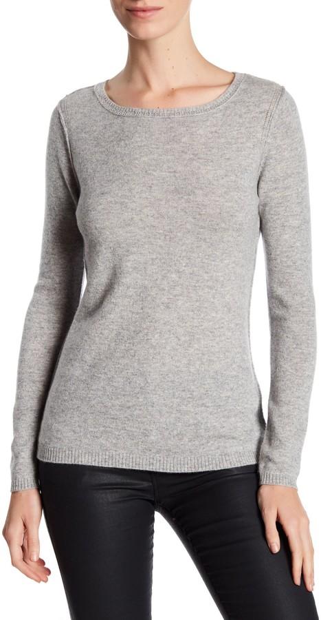 In Cashmere Cashmere Open-Stitch Pullover Sweater 8