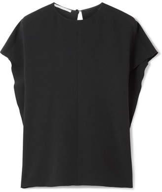 Stella McCartney Oversized Draped Cady Blouse - Black