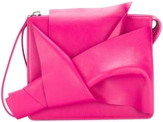 No.21 abstract bow clutch bag
