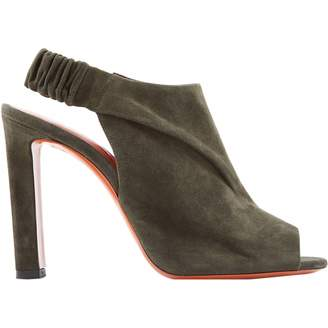 Santoni Khaki Suede Sandals