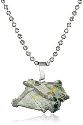 Star Wars Jewelry Boys' Rebel Ghost Ship Chain Pendant Necklace