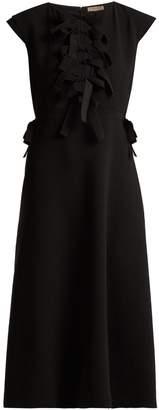 Bottega Veneta Tiered-ties crepe midi dress